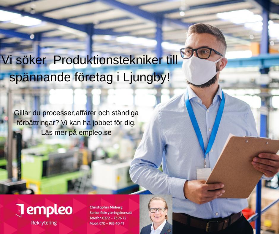 Vi söker Produktionstekniker till vår kund i Ljungby