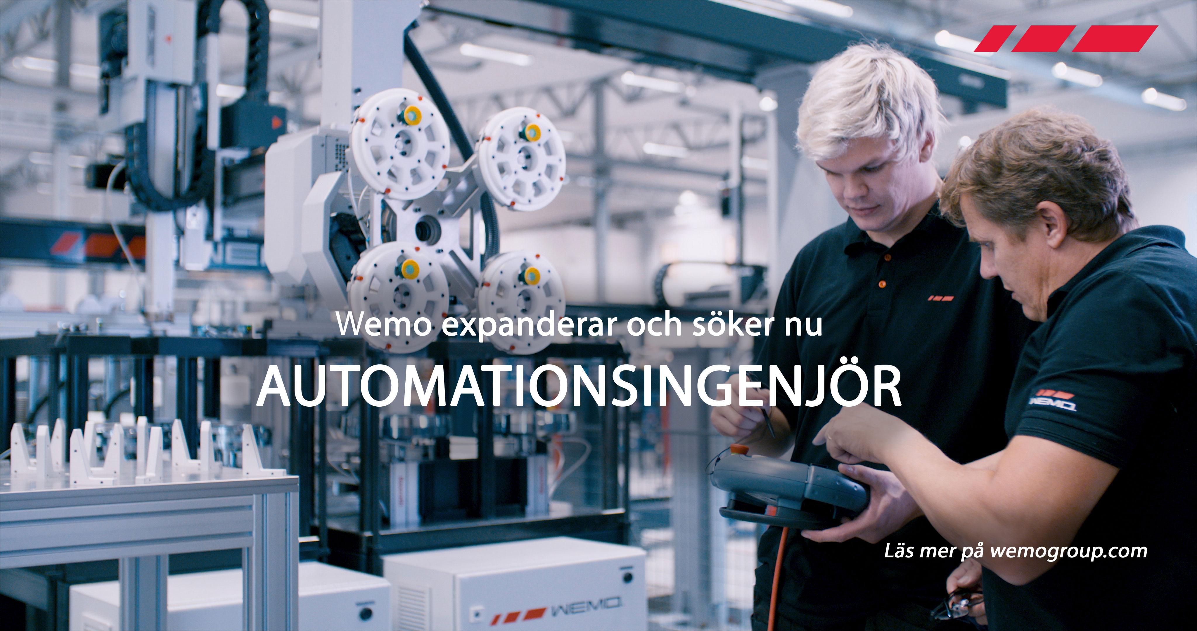 Vi söker en nyfiken och intresserad Automationsingenjör