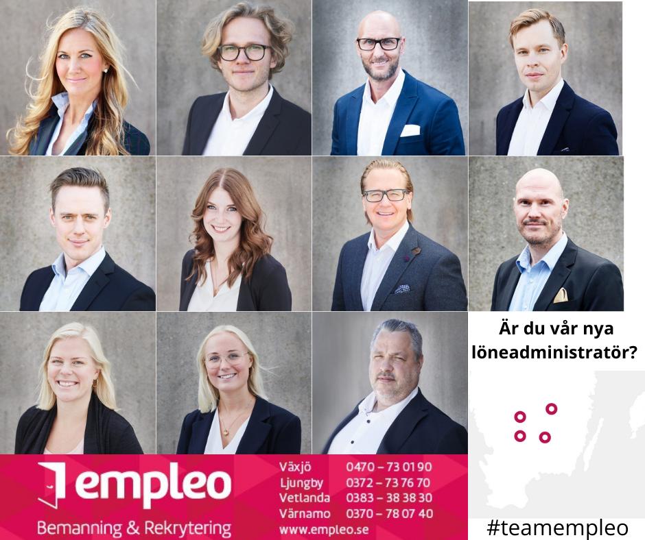 Löneadministratör till Empleo i Växjö